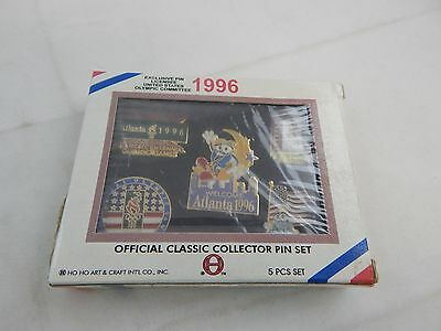 1996 Olympic Official Classic Collector's Pin Set 5 Pins