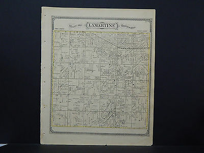 Wisconsin, Fond du Lac County Map 1874, Lamartine Township w/ Engravings