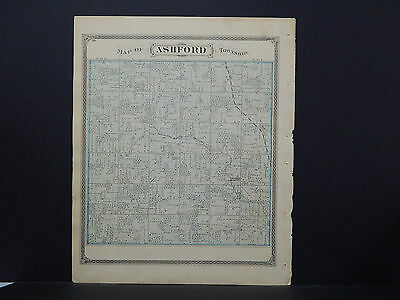 Wisconsin, Fond du Lac County Map 1874, Ashford Township w/ Engravings L21#74