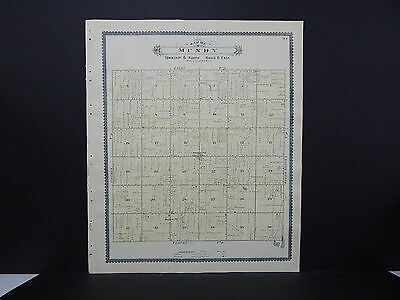 Michigan, 1889, Genesee County Map Double Sided Townships of Grand Blanc & Mundy