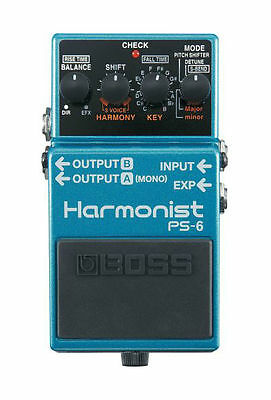 New Boss PS-6 Harmonist Pitch Shifter Guitar Effects Pedal! Free Guitar Strap