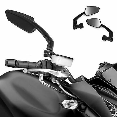 Black Motorcycle Motorbike Scooter Bike Rearview Mirrors 8/10mm Thread