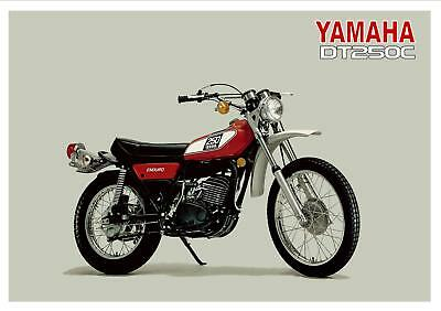 YAMAHA Poster DT250 DT250C Trail 1976 Suitable to Frame