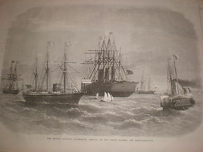 SS Great Eastern off Brest France 1869 print