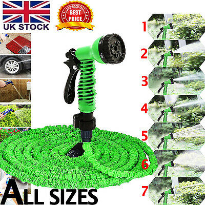 All Sizes Expanding Expandable Elastic Compact Garden Hose Pipe With Spray Gun