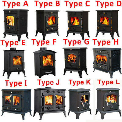Multifuel Woodburner Stove Wood Burning Log Burner Fire Fireplace Cast Iron New
