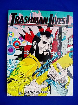 Trashman Lives: Spain Rodriguez Underground comix collected. Paperback.  1st