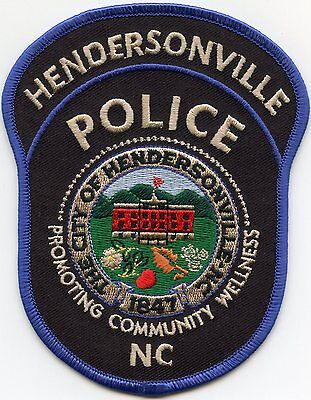 HENDERSONVILLE NORTH CAROLINA NC Promoting Community Wellness POLICE PATCH