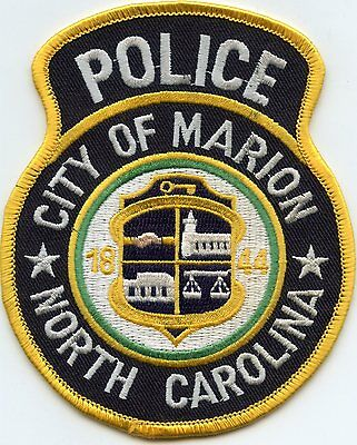 Marion North Carolina Nc Police Patch