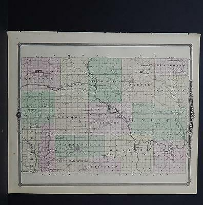 Wisconsin, Antique Map, 1878, Lafayette County, M9#17