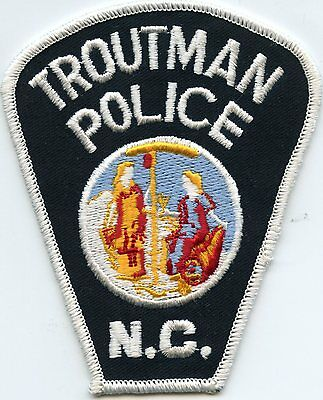 old vintage TROUTMAN NORTH CAROLINA NC POLICE PATCH