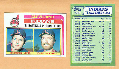 1982 Topps Indians Ad Card Variety, Bert Blyleven...