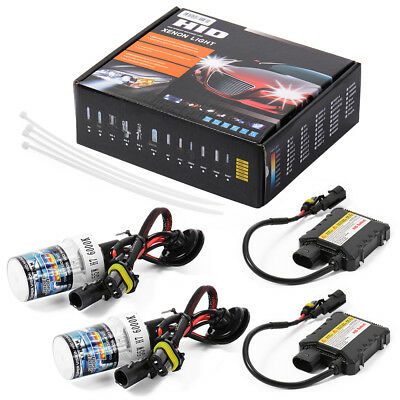 H7 55W 6000K Car HID Xenon Headlight Kit Canbus Error Free Lamp Bulb Slim LD708