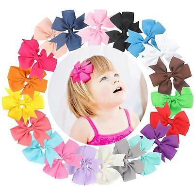 20Pcs Cute Lovely Bow Bowknot Hair Clip for Kids Baby Girls Toddler Infant X5M2