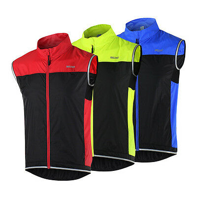 Mens Windproof Quick Dry Bike Cycling Jersey Sleeveless Wind Vest Bicycle Vest