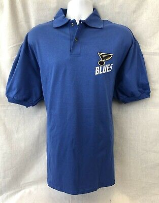 b232560fc St. Louis Blues Nhl Men's Cotton Embroidered Polo Shirt L Xl Free Shipping