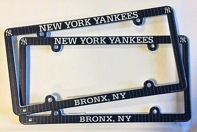 Lot of 2 New York Yankees Car Truck License Plate Frames NEW - THIN PROFILE