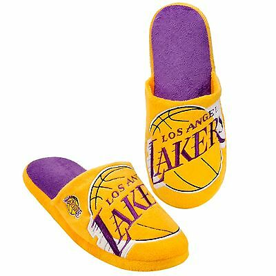 Pair of LA Los Angeles Lakers Big Logo Slippers NEW NBA - House shoes! BLG