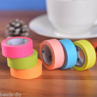 BD 1Set Fluorescent Colors Multicolor Cute Paper Tape DIY Photo Corner Stickers