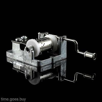 2017 Hand Crank Hurdy-gurdy DIY Music Box Movement with Screws Beautiful Melody