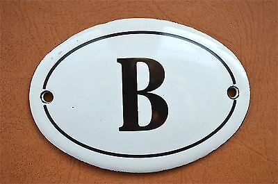 Small antique style enamel metal sign B plaque door sign furniture plaque