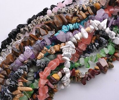 """Natural 7-15mm Freeform Chips Jewelry Making Loose Gemstone Beads Strand 30""""-34"""""""