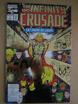 The INFINITY CRUSADE : # 1 by STARLIN & LIM. GOLD FOIL COVER. NM. MARVEL.1993