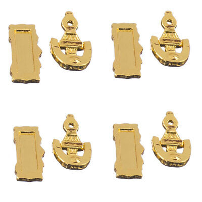 4 Dolls House Miniature Fittings Door Furniture Mail Slot Letter Box Knocker