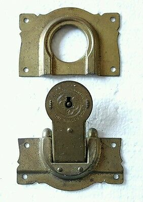 Antique Yale and Towne Trunk Lock Trefoil Logo