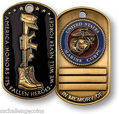 Fallen Heroes Marines Dog Tag In Memory of Coin USMC