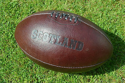 Vintage style embossed leather Scotland rugby ball retro rugby ball