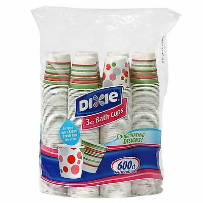 New 600 Count Dixie Bath Cups 3 oz Disposable Bathroom Cups