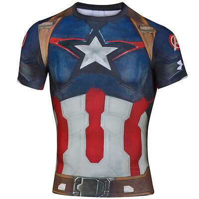 Under Armour Alter Ego Compression Short Sleeve Shirt Cap America 1268262-410