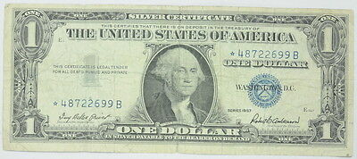 1957 SERIES United States $1 One Dollar Silver Certificate Star Note 57STAR1VG