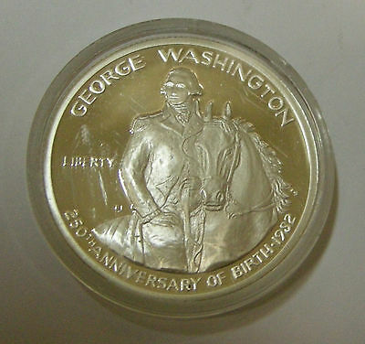 Usa America Half 1/2 Dollar 1982 S 250. Geb. George Washington Pferd Silber Pp