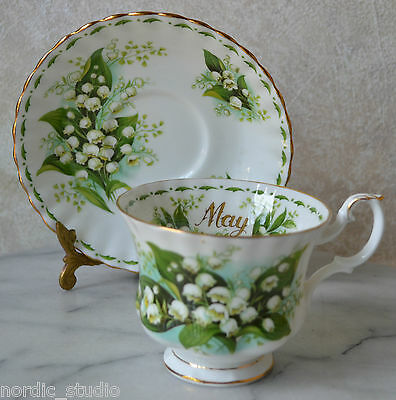 Royal Albert  - May -  Flower Of The Month Lily Of The Valley  Cup & Saucer Set