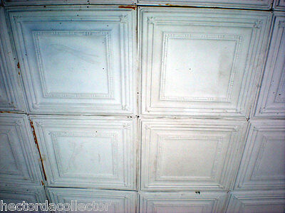25 pcs Vintage Ceiling Tin Tile 10'x10' Simple Elegant Chic Ceiling Fleur De Li
