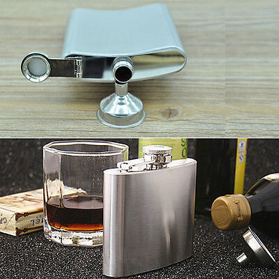 Portable Stainless Steel Hip Liquor Whiskey Alcohol Flask with Cap Funnel