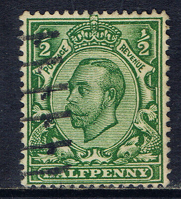 Great Britain #153(4) 1912 1/2 pence green King George V Used SCV$4.50