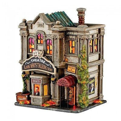Department 56 Village Halloween New 2016 LOOK WHO'S TALKING NOW THEATRE 4051010