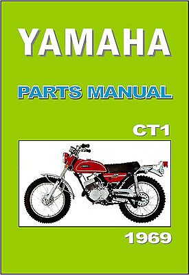 YAMAHA Parts Manual CT1 1969 Replacement Spares Catalog List