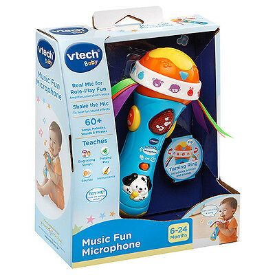 New Vtech Baby Infant Toy Play Musical Music Fun Microphone 185403