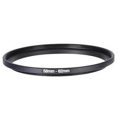 Hot 58mm-62mm 58mm To 62mm Step-Up Rings Metal Lens Adapter Filter Ring 58-62