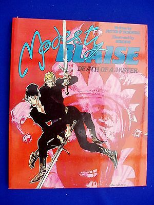"""Modesty Blaise """"Death of a Jester"""": Peter O'Donnell & Romero 1st. new (1987)."""