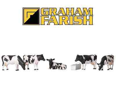 Graham Farish 379-341 Cows (Pack of 6 Figures) N Gauge