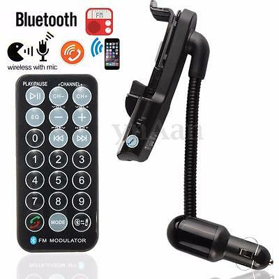 Bluetooth Car Kit FM Transmitter MP3 Player Phone Stand Holder Charger Handsfree