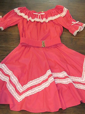 Vintage Partners Please Malco Modes country western pink dress size sm/med
