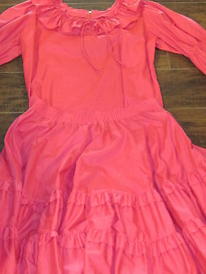 Vintage Partners Please Malco Modes country western pink 2 pc dress size med