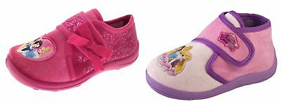Kids Girls Disney Princess Slippers Shoes Novelty Booties Xmas Gift Size UK 7-11