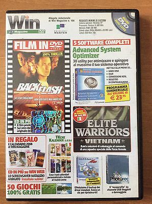 DVD WIN MAGAZINE 108  per PC  film BACK FLASH